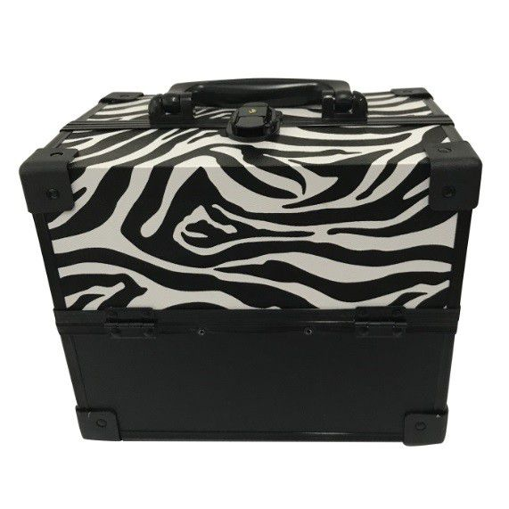 Maleta Grande Profissional Maquiagem Vazia Zebra + Brinde