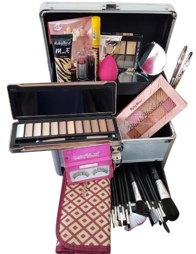 Maleta Kit Maquiagem Profissional Completa Ruby Rose Mod 4