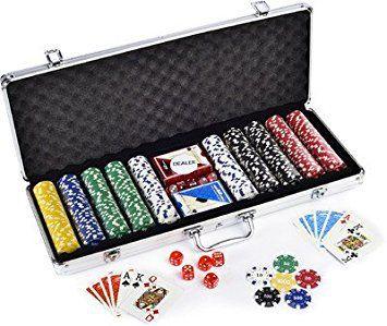 Maleta Poker Profissional 500 Fichas Numerada+ Embaralhador