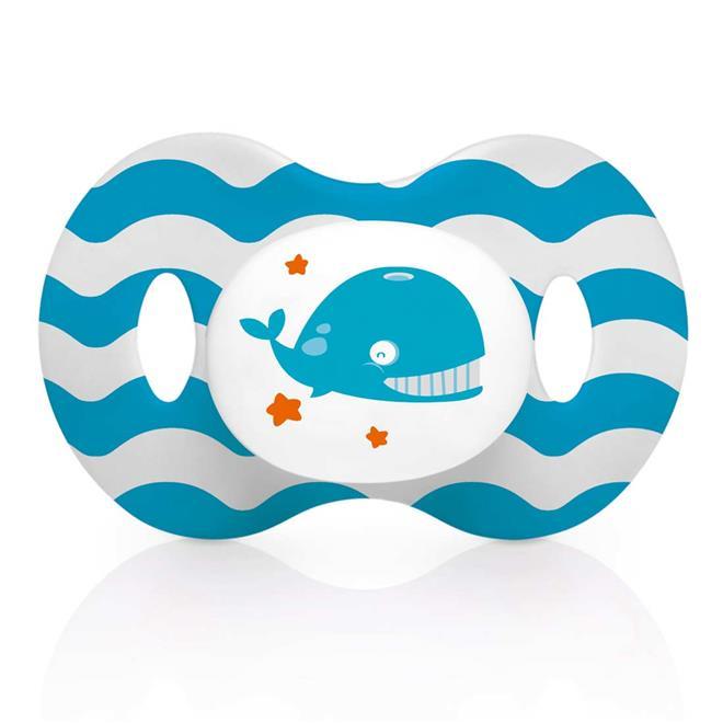 Mamadeira Ocean Pp Azul Ortoflex 250ml Multikids Baby - BB119 +Chupeta Ocean Pp Azul Ortoflex Ortodôntica Bb137 Multikids