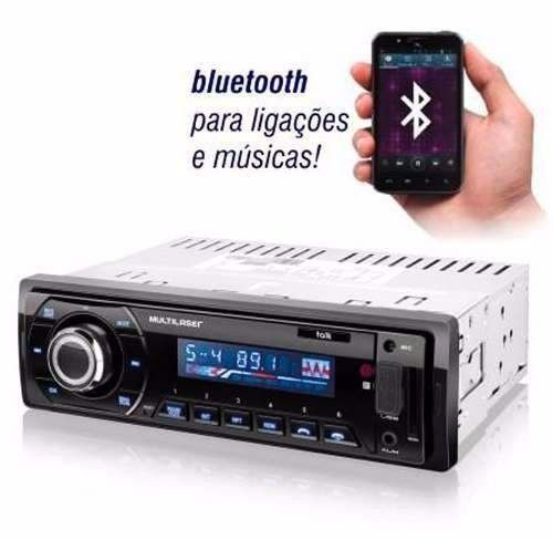 MP3 Player Automotivo Multilaser Talk - Bluetooth, Rádio FM, Entradas USB, SD e AUX P3214