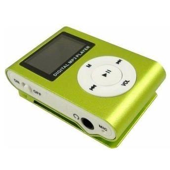 MP3 Player com Entrada SD e Fone de Ouvido Verde
