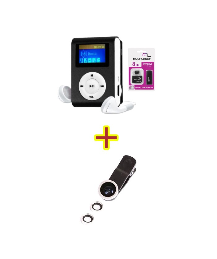 MP3 Player + Mc058 + Kit Lente