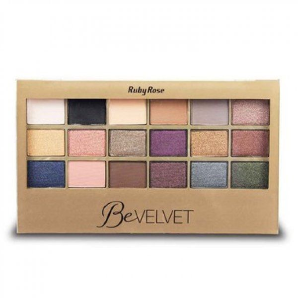Paleta de Sombras Be Velvet Ruby Rose HB-9915