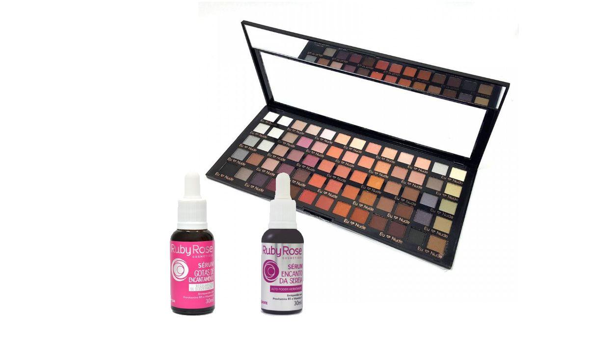 Paleta de Sombras Nude Super Square Luisance L6002+ Gotas De Encantamento Ruby Rose