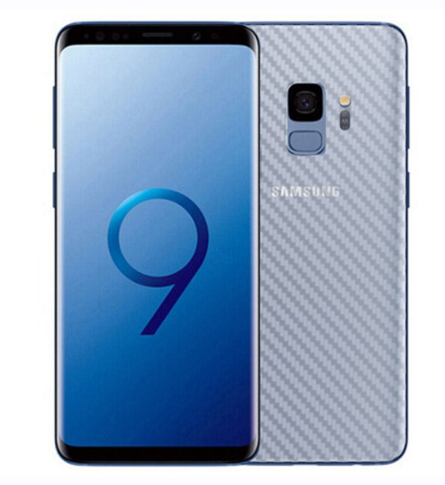 Película Traseira de fibra de Carbono transparente para Samsung Galaxy S9 Plus
