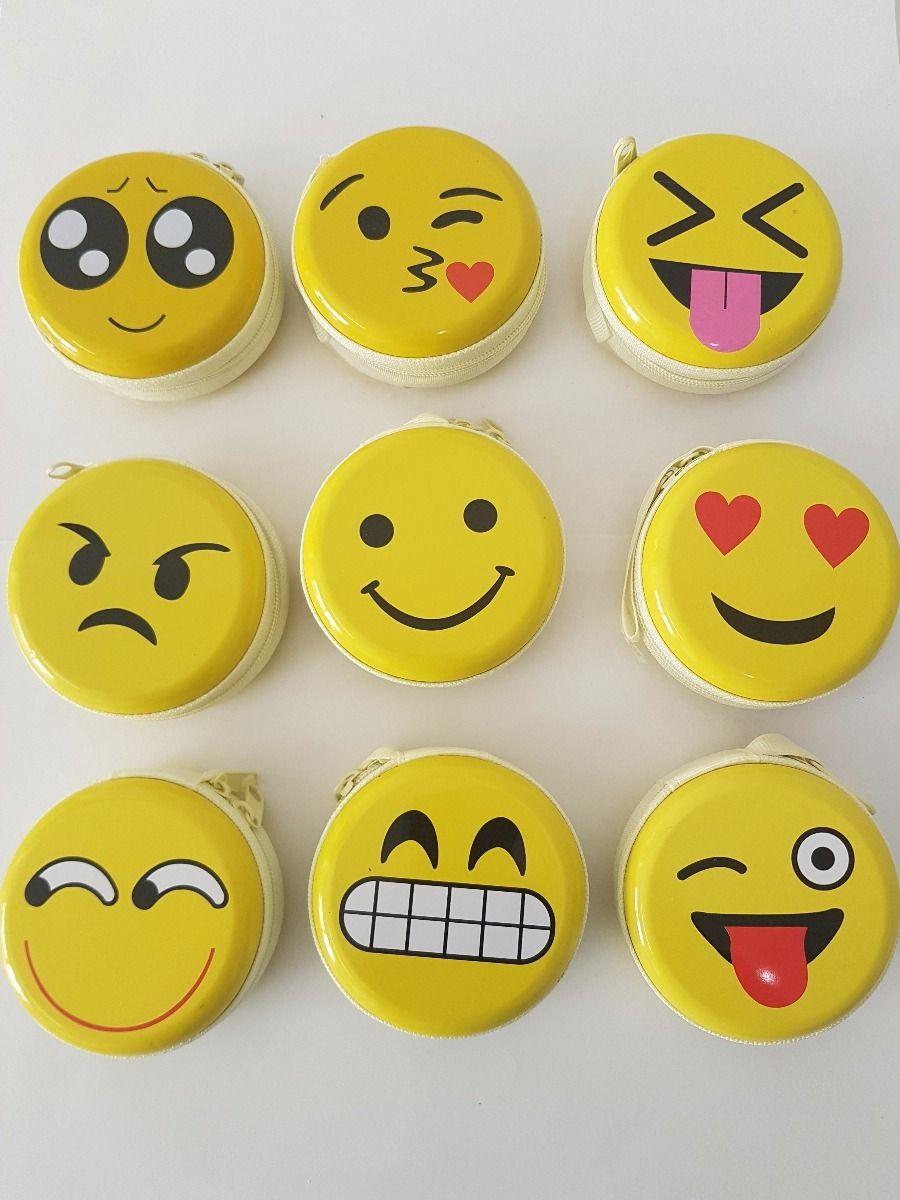 Porta Moeda Treco Notas Zíper Emoticons Emoji Zap 84 peças