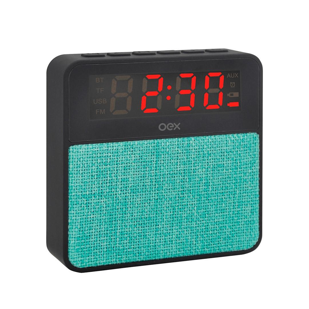 Som Clock  Speaker Wake  CS100 Preto com verde