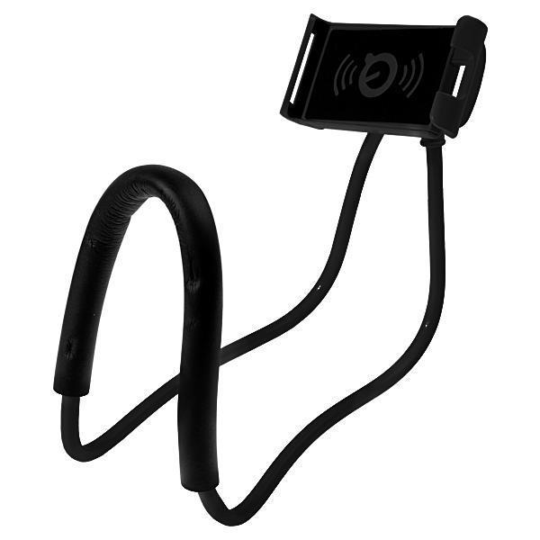 Suporte Celular Articulado De Pescoco Selfie Cama Mesa Sofa Preto