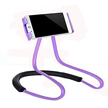 Suporte Celular Articulado De Pescoco Selfie Cama Mesa Sofa Roxo