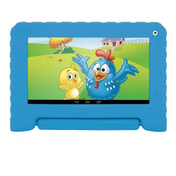Tablet Multilaser Kid Pad NB278, Wi-Fi, 8 GB, Android 7, Câmera 2 MP, Preto com Capa Azul