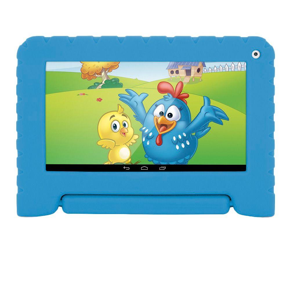 Tablet Multilaser Kid Pad Plus NB278 Azul com 8GB, Tela 7