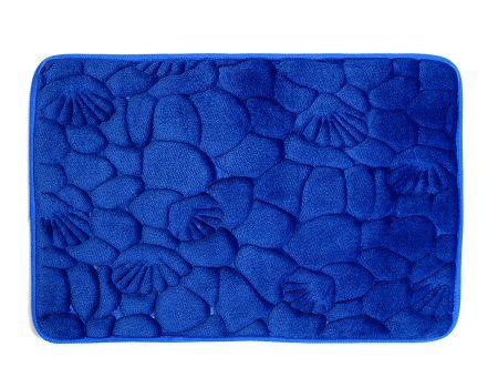 Tapete De Banheiro Em Microfibra 40x60cm Azul  Tape038