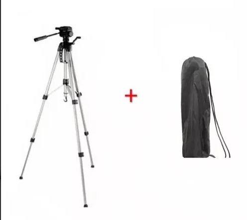 Tripé Para Câmera Fotográfica 1,30m Alumínio 4 Seções + bolsa