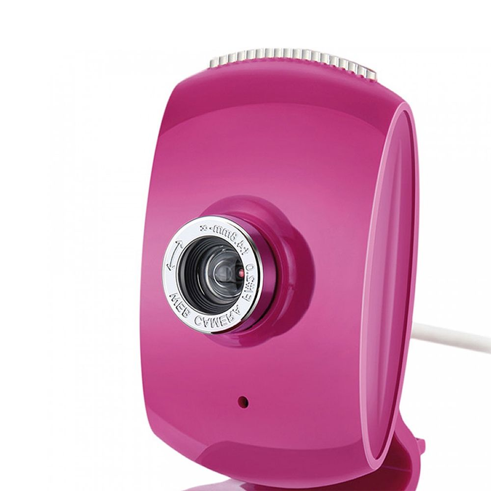 Webcam Multilaser Facelook com Microfone USB Rosa - WC048