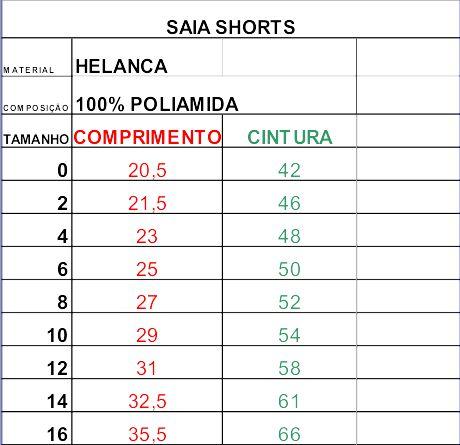 Saia-shorts - Educandinho
