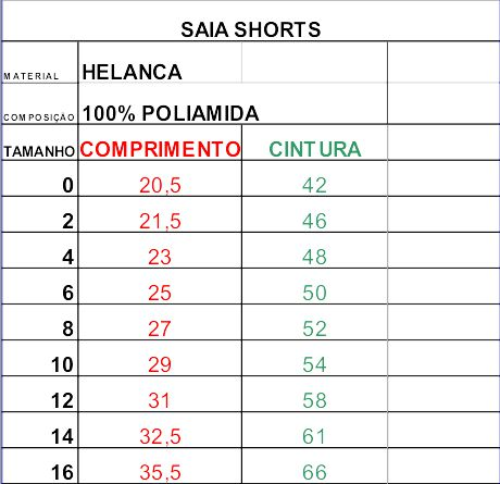 Saia Shorts - Liceu