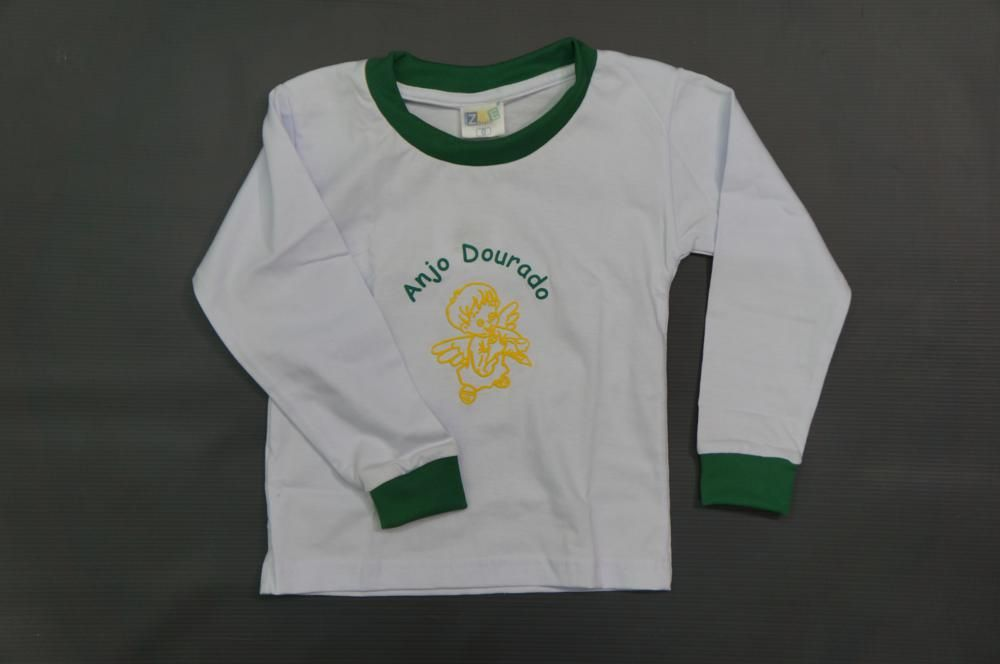 Camiseta Manga Longa - Anjo Dourado