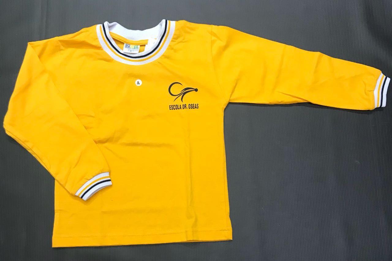 Camiseta - Manga Longa - Dr. Oséas - Amarela