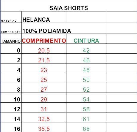 Saia Shorts - Anjo Dourado