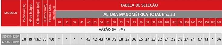Bomba Poço Artesiano 3,0 Hp 4 Polegadas (101,6MM) P/ Até 164 Metros Matsuyama