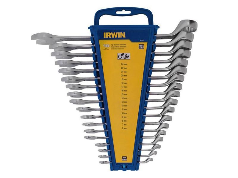 Jogo de Chave Combinada 18 Peças Cromo Vanádio Irwin
