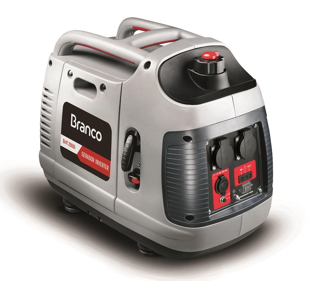 Gerador Gasolina Branco 2000w Inverter Silenciado B4T-2000I 110V