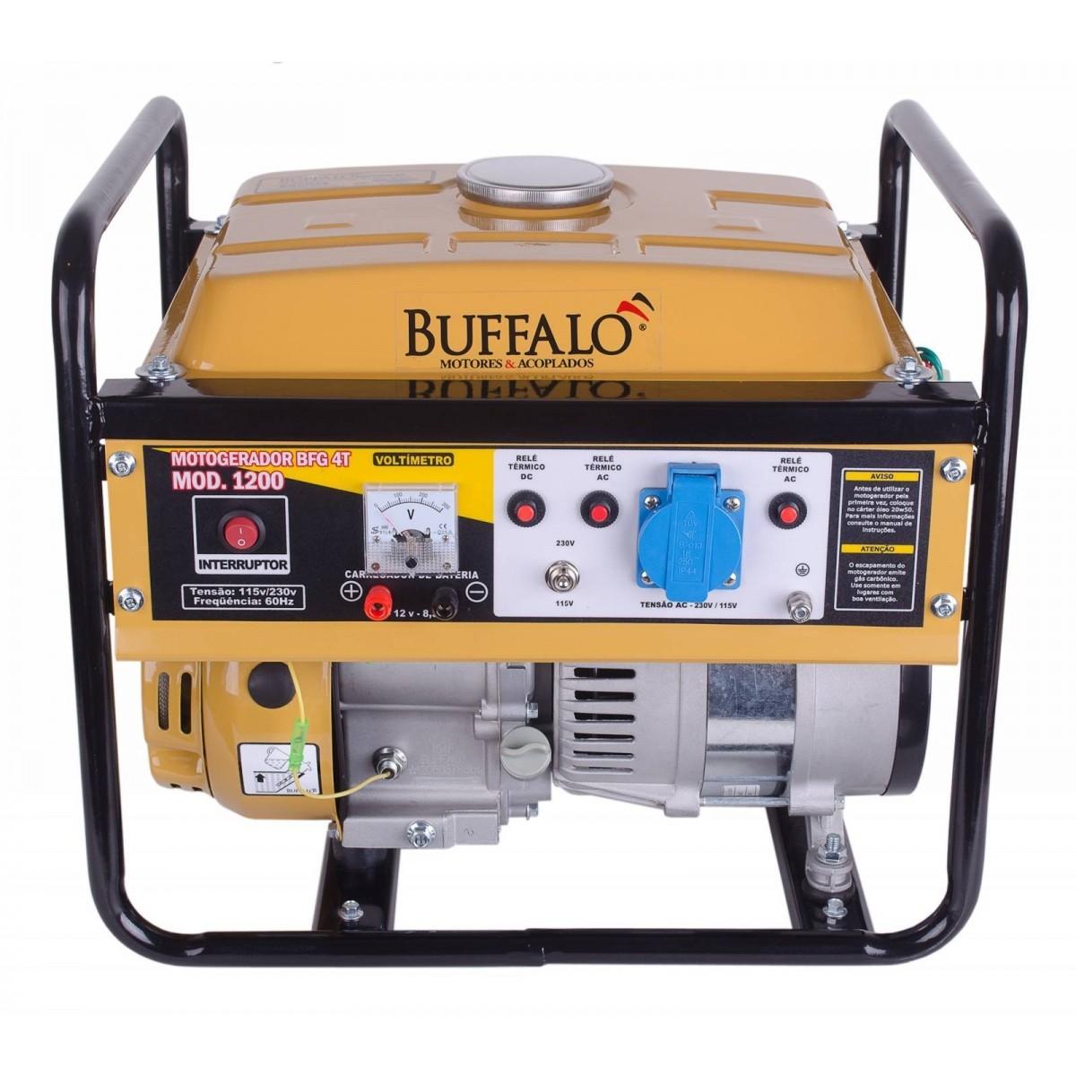 Gerador 1 KVA Monofásico a Gasolina 2.8 HP BFG 1200 Buffalo