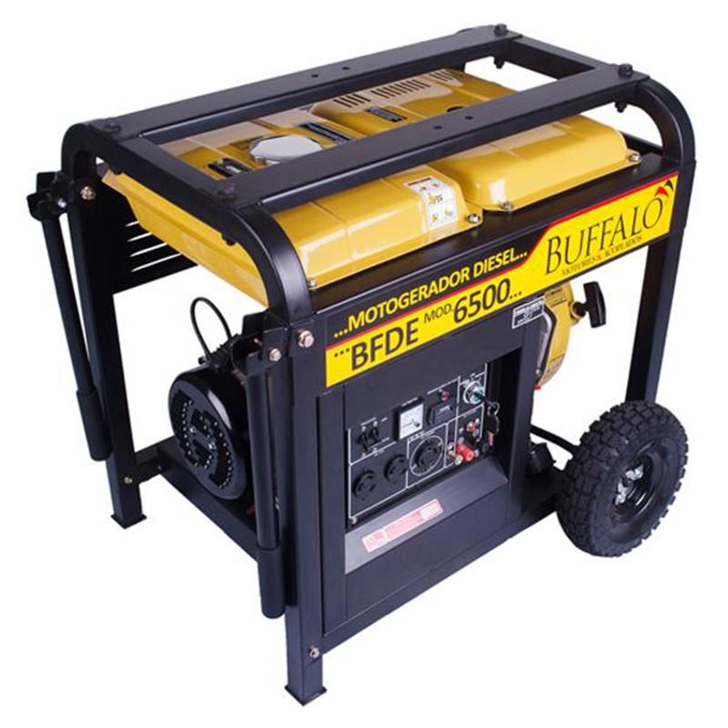 Gerador 5 KVA Trifásico 220V a Diesel 10 HP BFDE 6500 Buffalo