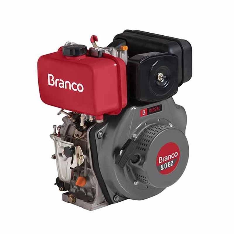 Motor Horizontal a Diesel 5 HP BD-5.0 G2 Partida Manual Branco