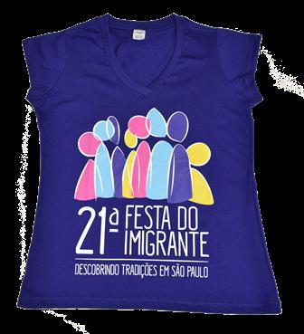 Camiseta Baby Look 21ª Festa do Imigrante