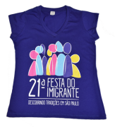 Camiseta baby look 21ª Festa do Imigrante
