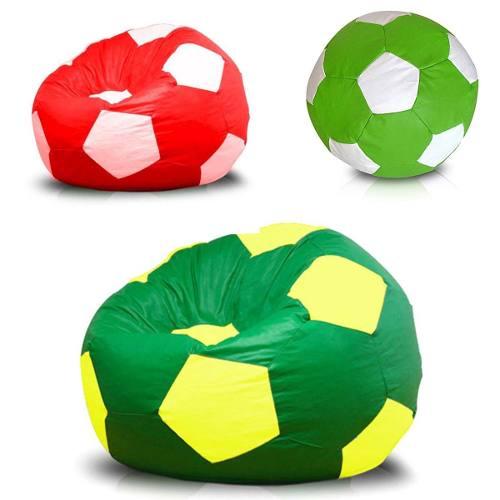 cb724201d656f Puff Bola Futebol Grande Várias Cores Pronto Para Usar Cheio