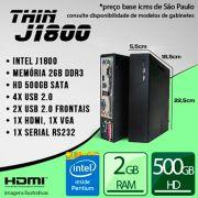 Mini PC Bluetech Thin J1800 Intel Dual Core J1800 2GB DDR3 HD 500GB 1x Serial