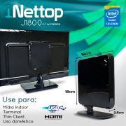 Mini PC Bluetech Nettop j1800 Intel Dual Core 2GB DDR3 HD 500GB Sata Wifi HDMI USB3.0