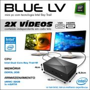 Mini PC Bluetech LV Intel® Dual Core™ N2808, 2GB DDR3, HD 32GB eMMC, HDMI, VGA, LAN, Wifi b/g/n, Gráficos HD Intel