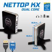 Mini PC Bluetech Nettop KX Intel J1800 4GB DDR3 HD 500GB Sata Wifi HDMI VGA USB3.0