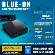 Mini PC NUC Bluetech BX Intel® Pentium® Core™ i5, 4GB DDR3, HD 500GB, Wifi ac, Bluetooth 4.0, HDMI, Display Port, USB 3.0