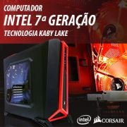Computador Bluetech Gamer, Intel Core i5-7400 Kaby Lake, 16GB DDR4, HD 1TB, GTX 1060 6GB, Fonte 600W, Gabinete Corsair