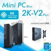 Mini PC Bluetech 2K-V2 Plus J2900 Intel Pentium Quad Core, 4GB DDR3, HD 500GB, HDMI, VGA, 2x Seriais