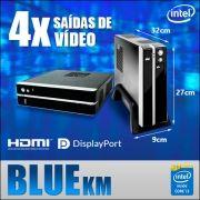 Mini PC Bluetech KM - Server Vídeo Wall e Menu Board -  Intel® Core i3 7100, 4GB DDR4, HD 500GB, 4x saídas de vídeo Mini Display Port, USB 3.0, Rede Gigabit, M2 2230, Windows 10 IOT