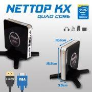Mini PC Bluetech Nettop KX Intel J1900 4GB DDR3 HD 500GB Sata Wifi HDMI VGA USB3.0