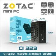 Mini PC ZOTAC ZBOX CI323, Intel Quad Core N3150, 8GB, SSD 240GB, HDMI, Display Port, VGA, 2x RJ45, Wifi