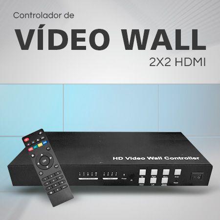 Controlador de Vídeo Wall 2X2 HDMI - SX-VW02  - Engemicro