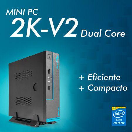 Mini PC Bluetech 2K-V2 J1800 Intel Dual Core, 4GB DDR3, HD 500GB, HDMI, VGA, 2x Seriais  - Engemicro
