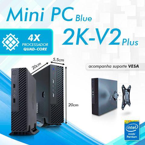 Mini PC Smart Client 2KV2 Plus J2900 Intel Pentium Quad Core, 4GB DDR3, HD 500GB, HDMI, VGA, 2x Seriais  - Engemicro
