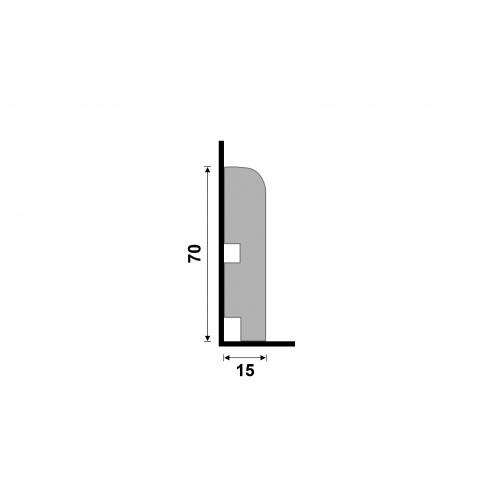 Rodapé Poliestireno 7cm