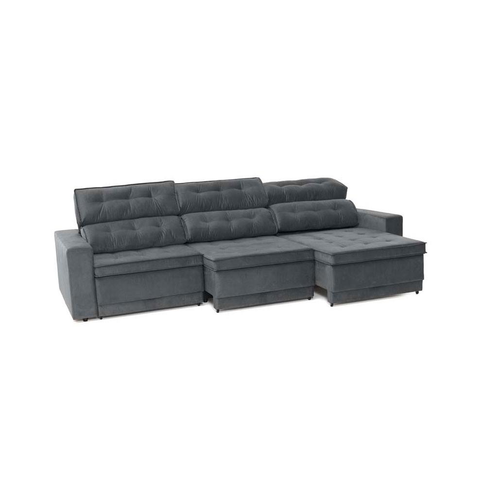 Sof 6 lugares net biondi assento retr til e reclin vel for Sofa retratil 6 lugares