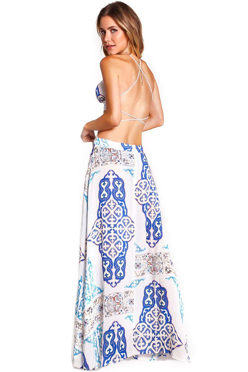 Vestido Majorelle Azulejo Branco