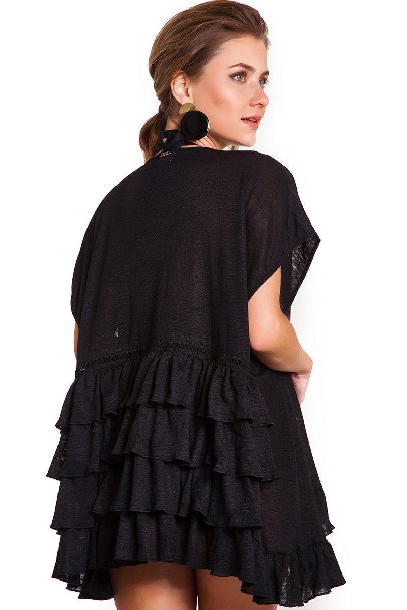 Kimono Rufflebomb Preto